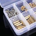 270Pcs/Set M2 3-25mm Male to Female Brass PCB Standoff Screw Nut Assortment Kit Set