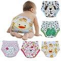 6 unids/lote 4 capas impermeable de pañales del bebé Baby Boy Baby Girl Shorts ropa interior pantalones de entrenamiento del bebé #007