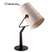 Buy rotating lamp shade and get free shipping on aliexpress black italian design table folding 360 degree rotating beige linen cloth shade aloadofball Images