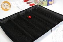 Non-stick Perforierte Backmatte für 12-zoll Unter Rollen, 5 Formen Antihaft-silikon Brot Backen Liner U-bahn Brot Schimmel Form