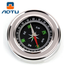 AOTU Mini Aluminum Camping Compass Professional Hiking Hiker Outdoor Navigation Tools Tourism Watch Survival Easy To Carry