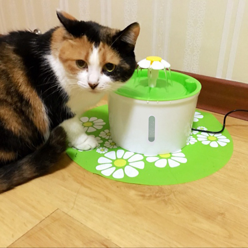 Pet Drinking Fountain Cat Feeding Feeder Pet Product Pet Bowl Drinking Water Dispenser Drink Filter Automatic Cat Dog Electric