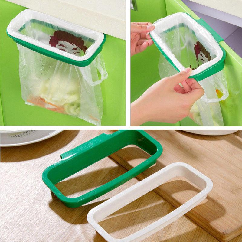 Кухонный инструмент, подвесной креативный мощный мусорный мешок, держатель для мусора, стеллажи для хранения мусора, вешалка для шкафа, стеллаж для слива, Органайзер Подставки для хранения и стеллажи      АлиЭкспресс