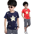 2016 Summer Children Kids Boys Clothes Sets Cartoon Boys T-Shirt + shorts sport suit Baby Boy Clothes Fit 4-10 years old