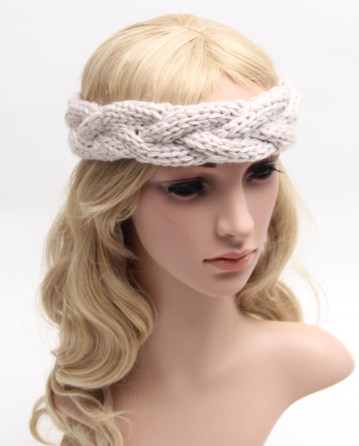 Knitted Headband Knit Hair Band Turban Headband Knitted Ear Warmer