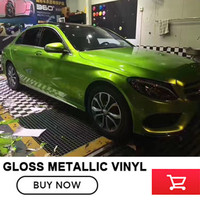 High Quality Glossy Vinyl Wrap Car Sticker With Air Bubble Free Gloss Film Vehicle Motorcycle Wrapping