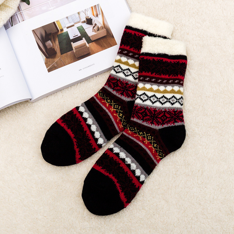 POENFLY Nylon Lined Women Indoor Socks Brand Winter Coolmax Compression Soft Warm Home Coolmax Ladies Cosy Dual Layer Crew
