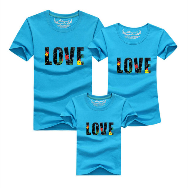 88ebbe870 Family fitted short sleeved T shirt Boutique 2018 Fashion Dad Mon ...
