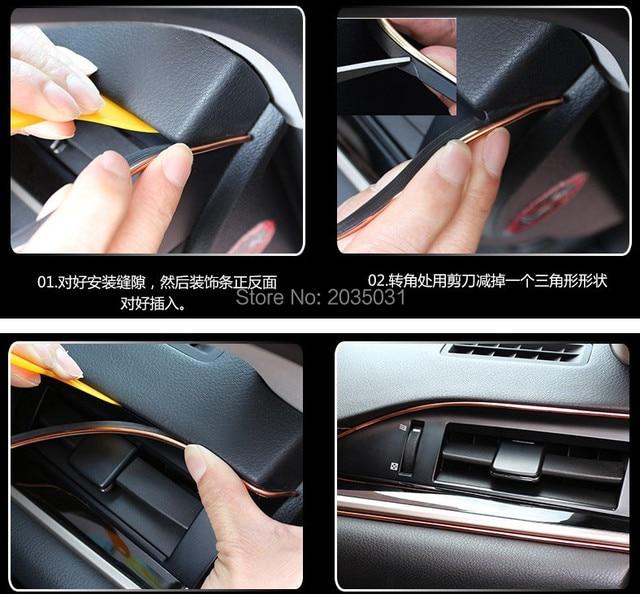 Car Interior Decoration Trim Strip For Dacia Logan Sandero Megane