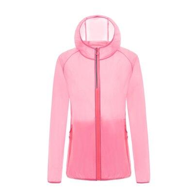 Кожаная одежда для женщин, Ультралегкая спортивная куртка, летняя Солнцезащитная одежда с защитой от ультрафиолета, верхняя одежда, новые куртки с капюшоном для бега и бега, женские куртки - Цвет: 8569 fh