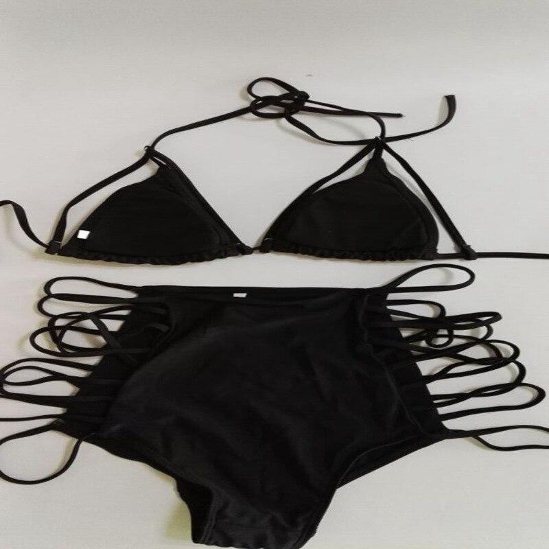 Micro bikini 2018 womens sexy swimwuit string bikinis set black hollow swimwear vintage brazilian biquines high waist beachwear
