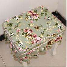 Чехол на стул для домашнего пианино/чехол на стул для макияжа в клетку/цветочный чехол на стул