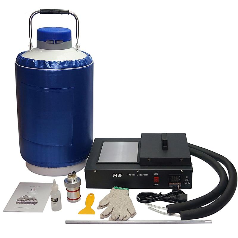 Купить с кэшбэком lcd freezing separator mache FS06 2  1 pack built  pump with 10L liquid nitrogen tank 220V 300W for phone  repair tool