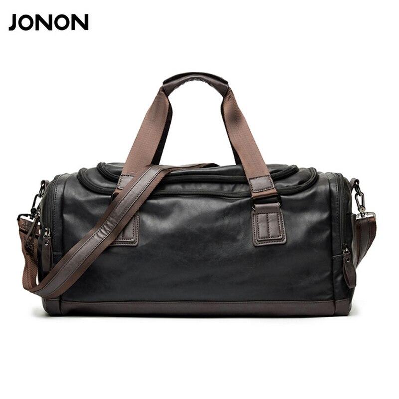 99ecb3067 Jonon Large Capacity Men Travel Bags Simple Contrast Black Duffel Bag For  Trip Casual Brand Traveling Bag For Male New