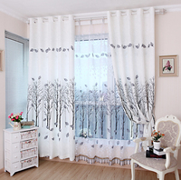 Fresh Rustic Curtain Chinese Style Customize Made Curtains Ready Free Shipping