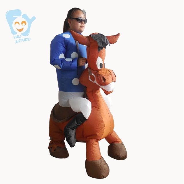Halloween Costumes For Women Cosplay Inflatable Jockey Horse Costume Adult Fancy Dress Carnival Costumes & Halloween Costumes For Women Cosplay Inflatable Jockey Horse Costume ...
