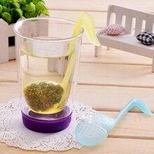 1 шт Горячая музыкальная нота форма пластиковая ложечка-фильтр для чая Чайная ложка заварочный фильтр