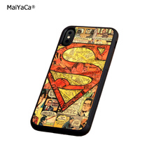 superman logo soft silicone edge mobile phone cases for apple iPhone x 5s SE 6 6s plus 7 7plus 8 8plus XR XS MAX case стоимость