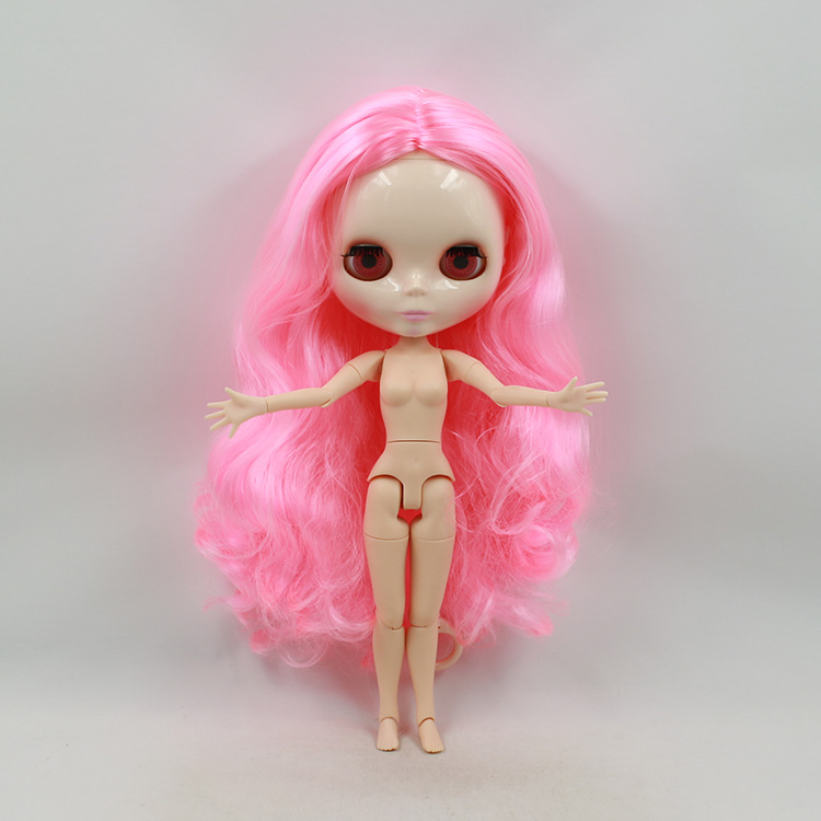 Free shipping 12 fashion Nude Blyth doll joint body 1/6 bjd blyth doll DIY pink long hair dolls for girls bjd doll nude blyth joint body bjd 1 6 blyth poppen short beige hair doll toys for girls