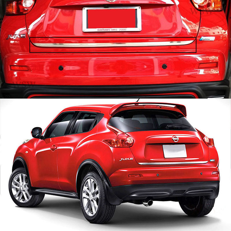 FOR 2011 to 2017 Nissan Juke REAR TRUNK TAILGATE BACK DOOR LID COVER BOOT TRIM EDGE MOLDING STAINLESS GARNISH CAR-STYLING