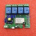 DC 220 V Interruptor do Relé Sem Fio Wi-fi Módulo Atraso 4-way controle para Hom Inteligente