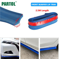 Universal Blue 2 5M Car Front Bumper Lip Spoiler Protector Rubber Splitter Valance Body Guard Side