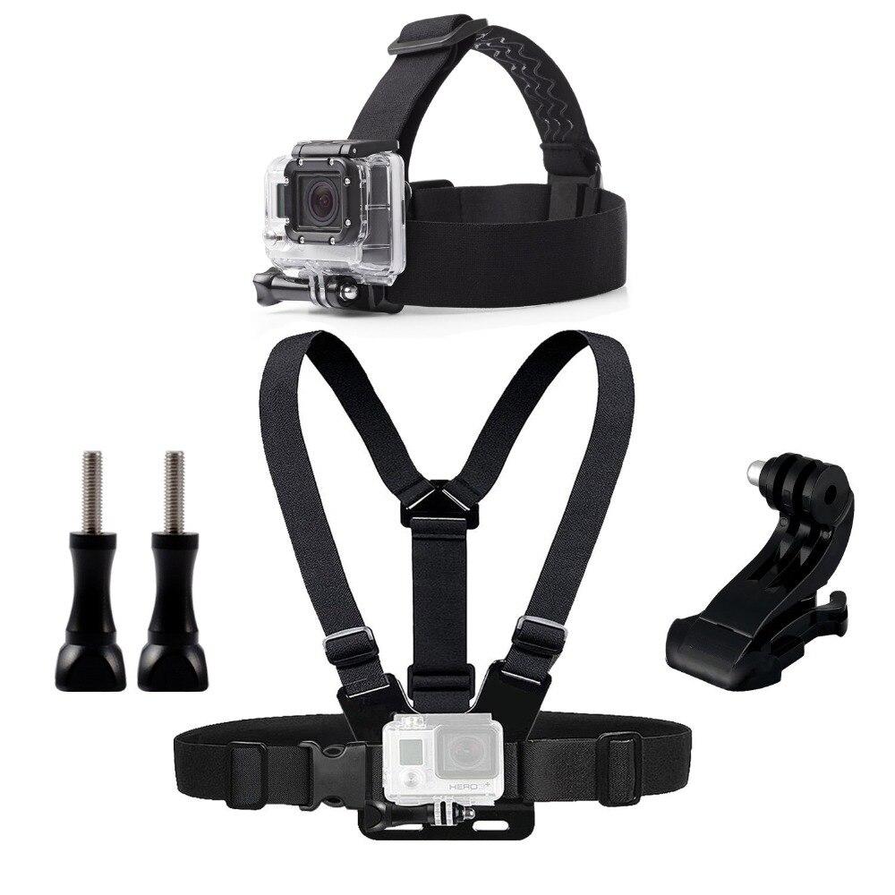 Pecho Cinturón Head Mount Para Gopro Hero 5 4 accesorios que Marcan Acción SJ4000 SJCAM Cámara Go pro J montaje para el Arnés de Cabeza correa