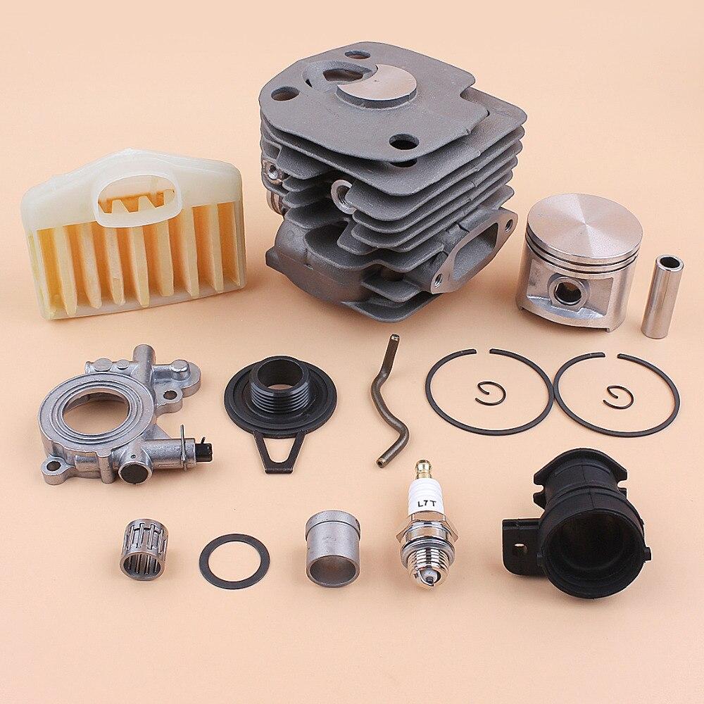 home improvement : 50mm Cylinder Piston Oil Pump Worm Gear Air Filter Kit for Husqvarna 362 365 372 371 Jonsered 2065 2071 2165 2171 Chainsaw Motor