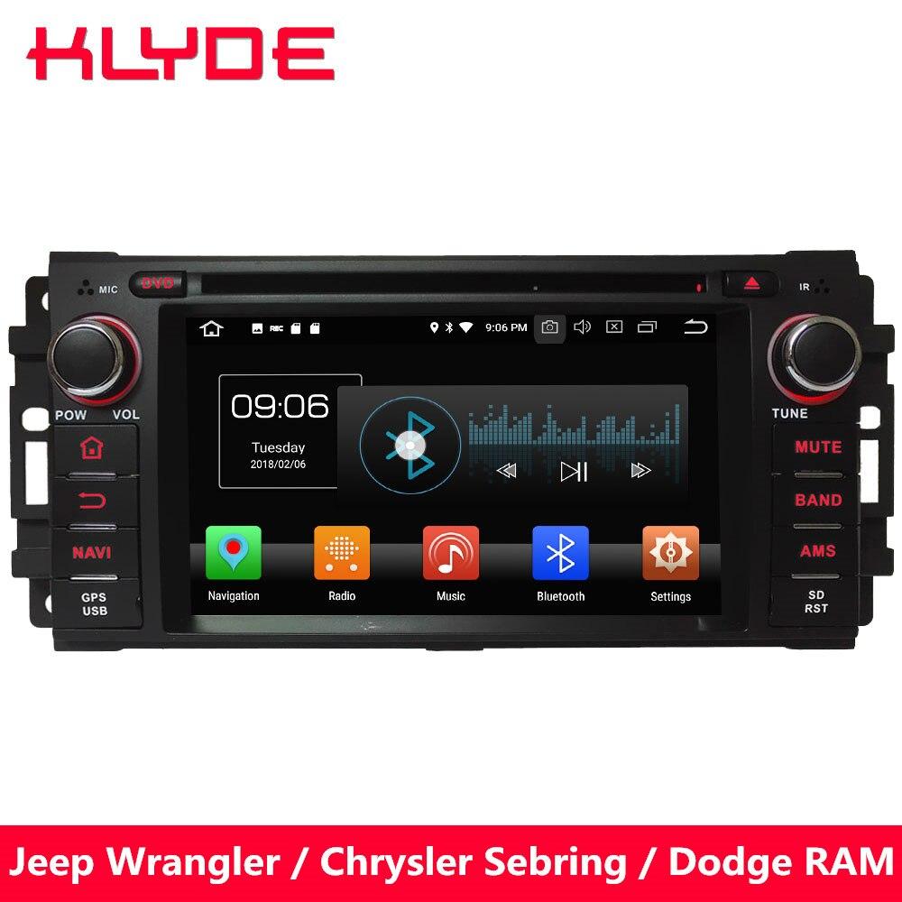 KLYDE 4G WIFI Android 8.0 Octa Core PX5 4 GB RAM 32 GB ROM voiture DVD lecteur multimédia Radio pour Chrysler 300C Cirrus Aspen Sebring