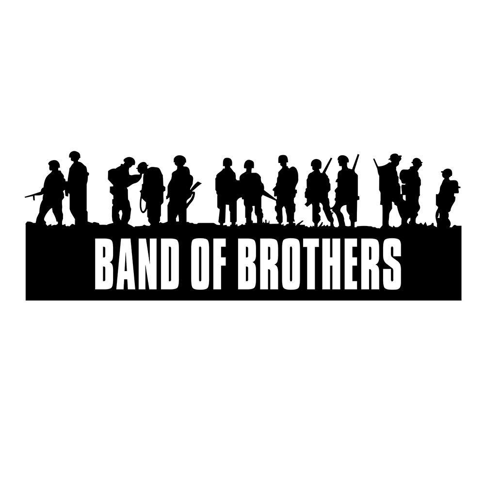 Band of brothers design full body 3815cm car stickers and decals for jeep wrangler