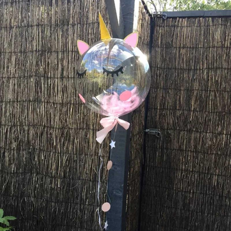 Единорог вечерние DIY Войлок рога уши ресницы фон украшения с 36 дюймов ПВХ БОБО Воздушные шары Дети день рождения поставки