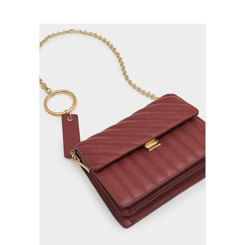 Luxury Handbags Women Bags Designer Chain Wrapped Kraft Leather New Single Shoulder Diagonal Square Bag