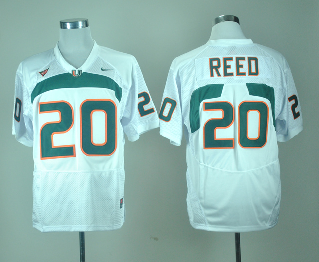 save off 3ed1b 5a353 miami hurricanes 20 reed green jersey