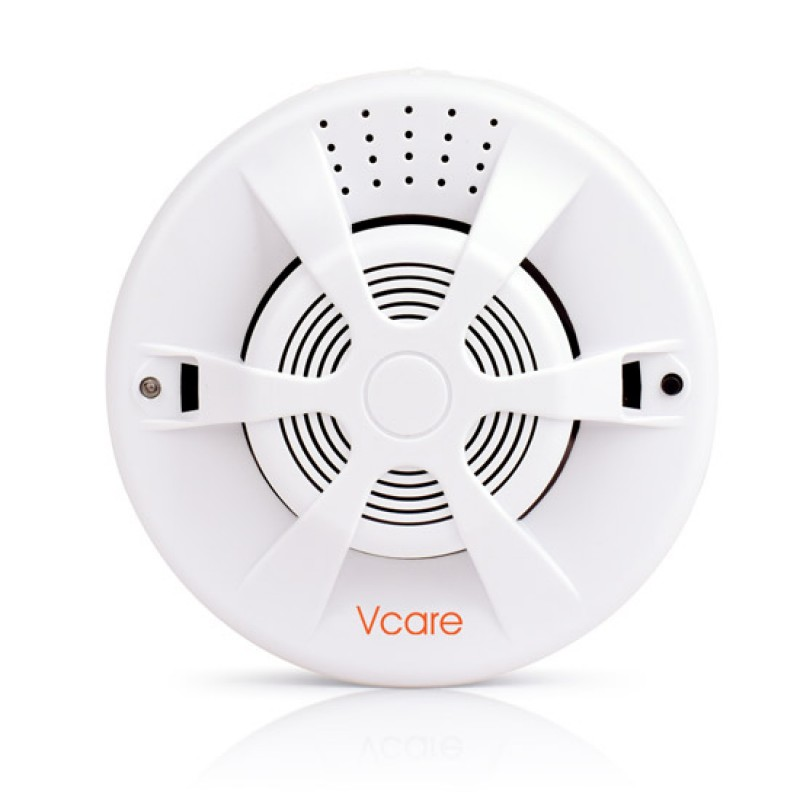433Mhz Wireless Smoke Sensor For Vcare Smart Home Alarm System With Automatic Detection Sound-Light And Red LED Fast Blink Alert