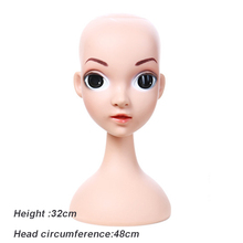 Wholesale Beauty Big Eyes Girl Face Models Child Mannequin Manikin Head for Wig Hats Display Show Stand Mannequins Doll Head