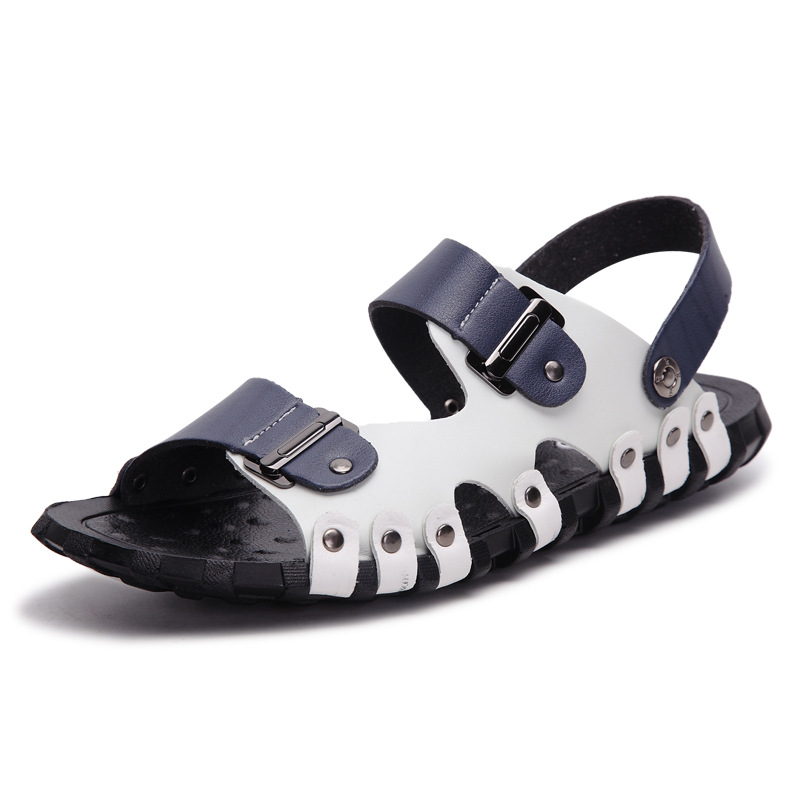 YD-EVER 2018 Unique Arrival Split Leather Sandals Men Summer Shoes Handmade Classics Beach Shoes Cool Comfortable Casual Shoes