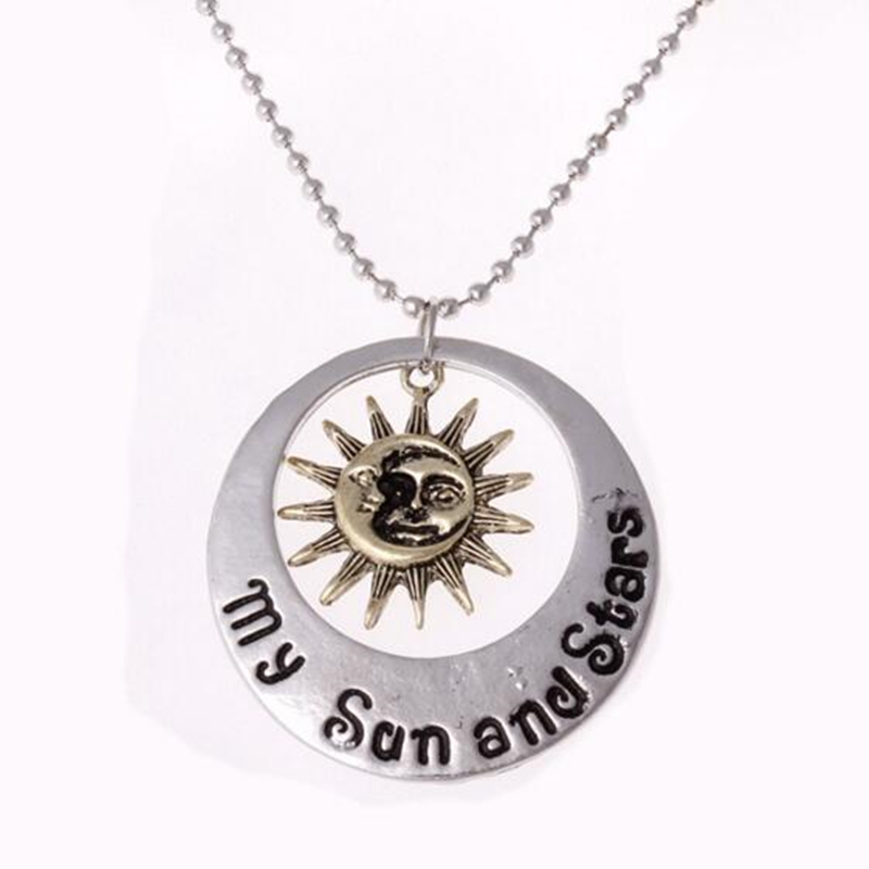2016 New moon of my life Sun Star necklace Song Of Ice And Fire Necklace Game Of Thrones Pendants Movie Necklace Bijoux Jewelry