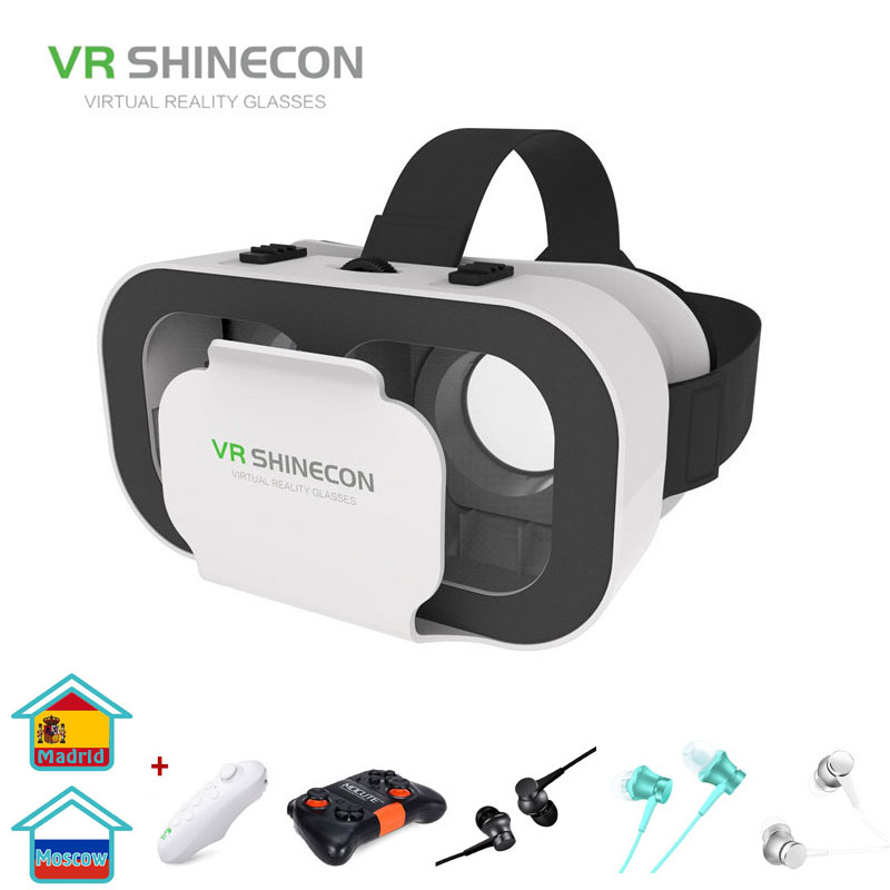 VR SHINECON G05A 3D VR Glasses Headset for 4.7-6.0 inches Android iOS Smart Phones(China)