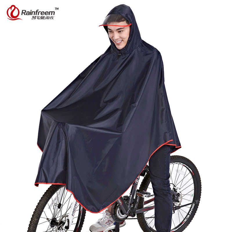 Rainfreem Impermeable Raincoat Women/Men Thick Bicycle Rainwear Poncho Rain Coat Women Waterproof Rainwear Rain Gear Poncho