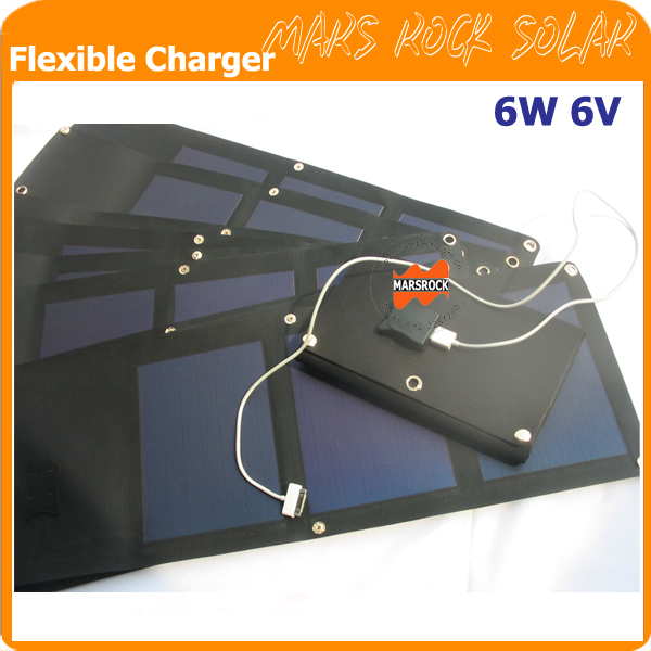 6W 6V flexible solar panel, flexible solar panel charger, charger for mobile phone, portable power source 7w folding solar panel charger for mobile phone camera more camouflage
