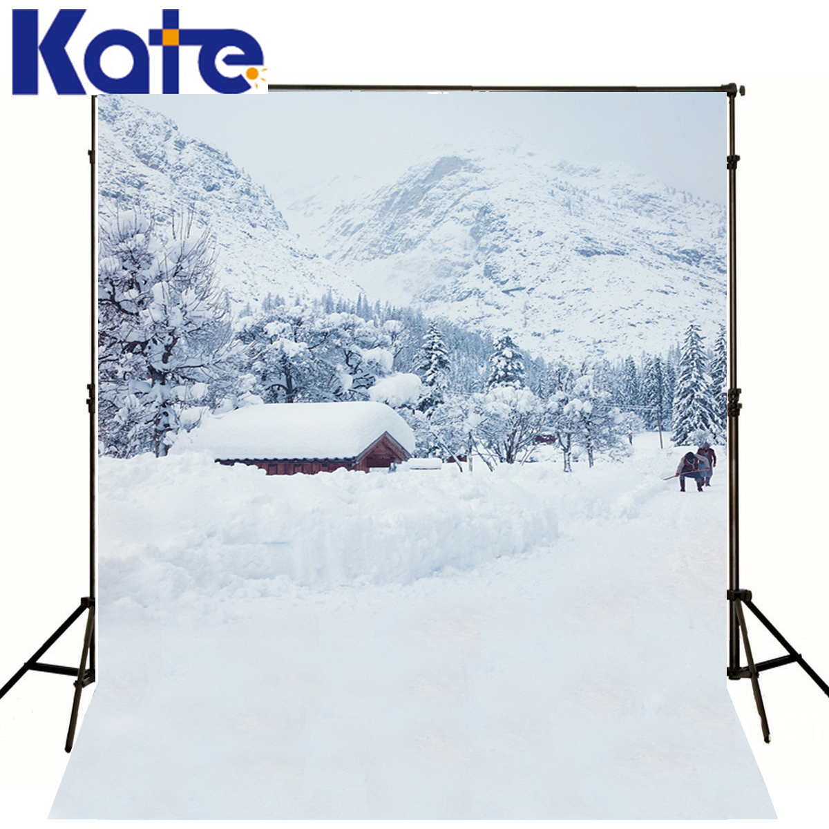 KATE Christmas Background Photography Winter Snowstorm Shovel The White Snow Scenery Mountain Forest Backdrop For Photo Shoot kate christmas village background cartoon photography backdrop moon backgrounds blue winter background for children shoot
