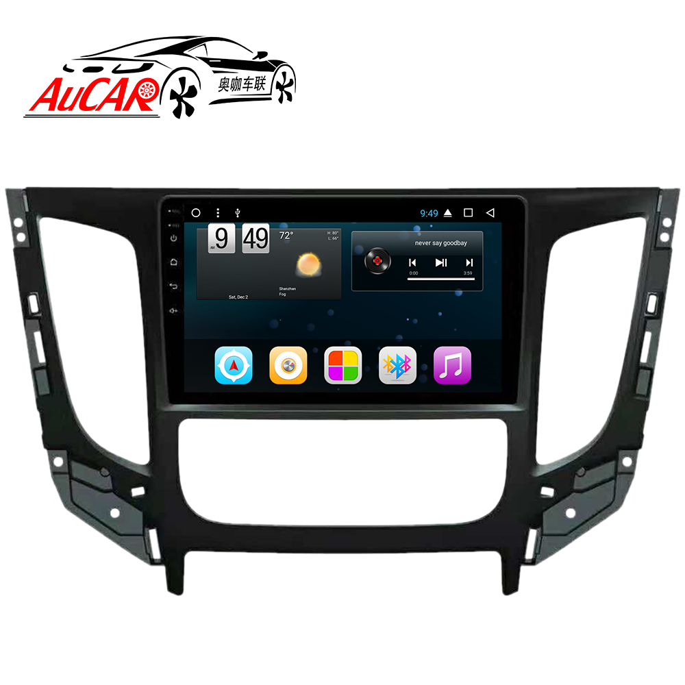 AuCAR Android Car DVD Player for Mitsubishi Triton L200 2016 GPS Navigation Bluetooth GPS Car Radio Stereo WIFI 4G AUX touch