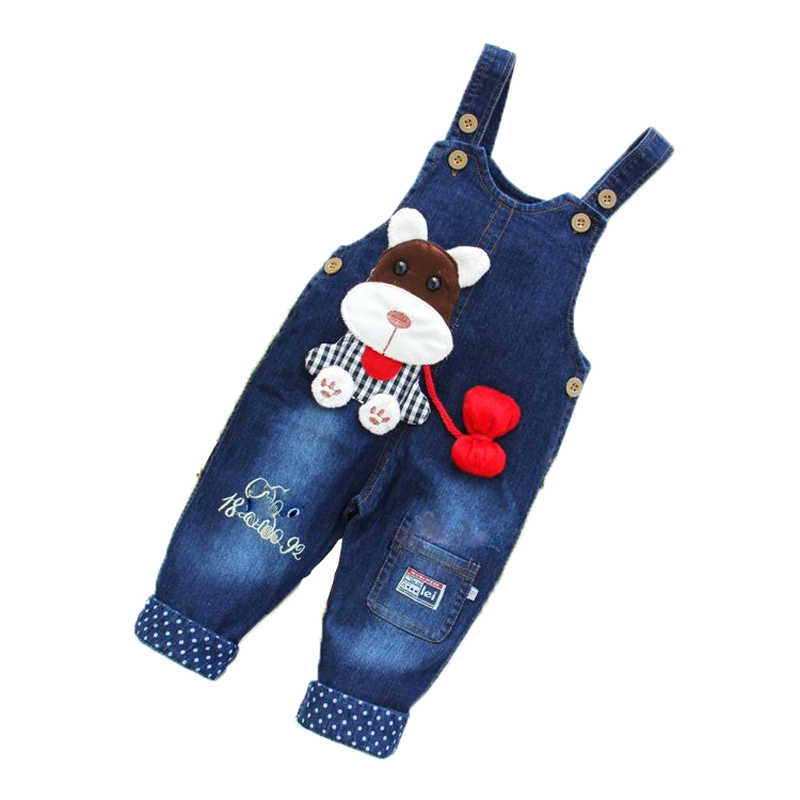 6a40404cf5e Newborn pants Baby denim overalls children autumn Infant Rompers child bib  pants kids boy girl trousers