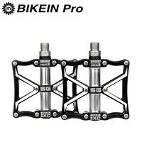 BIKEIN CNC Aluminum Mountian Bike Flat Platform Pedals 9 16 Cycling MTB BMX 3 Sealed Bearing