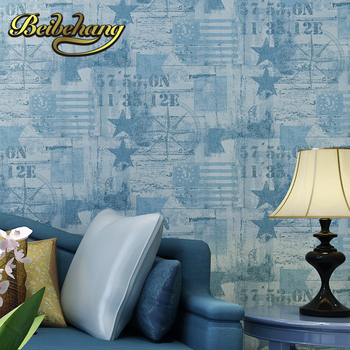 цена на beibehang wall paper papel de parede 3d Puna American country, Mediterranean-style non-woven wallpaper the living room
