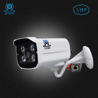 ZSVEDIO IP Cameras IR 5MP IP Camera Alarm System H 265 POE CCTV Camera IP Cameras