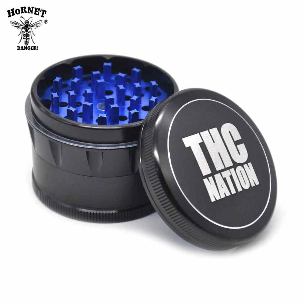 [HORNET]New Arrival 4 Layers Aluminum Dia.63mm Kitchen Spice Crusher Herb Grinder Hand Muller Hand Crank