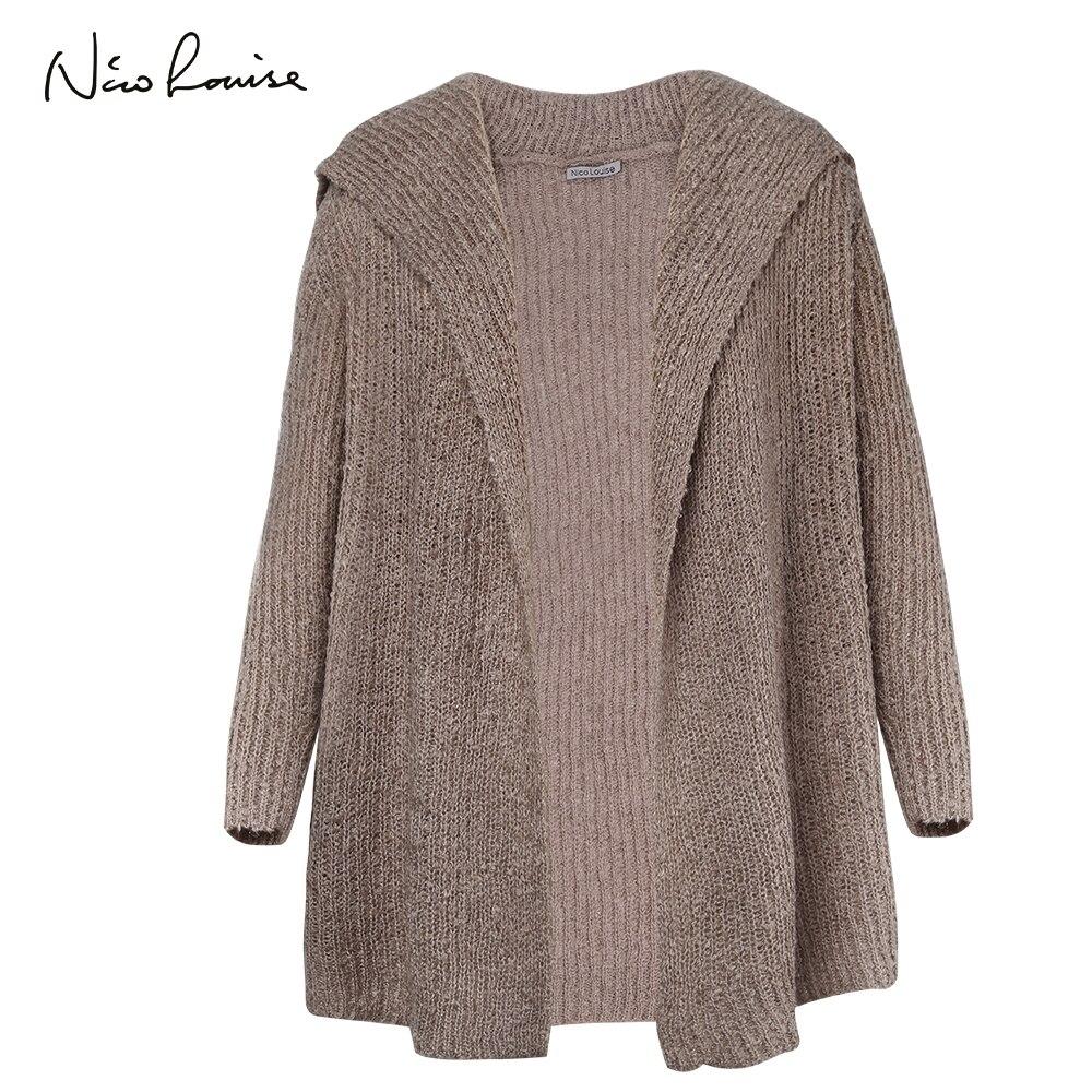 2018 Frauen Pullover Herbst Winter Mode Weibliche Lange Hülse Strickjacken Stricken Poncho Dicke Wolle Strickwaren Pull Femme Für Mädchen