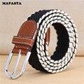 2016 tejido nuevo cinturón elástico cinturón cinturón de lona hombres mujeres moda ocio salvaje neutral con cinturón 12 110 cm color-130 CM