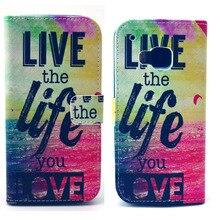 Viver a vida de amor Pu bolsa de couro carteira suporte tampa bolsa para HTC um M9 Hotsale